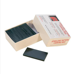 Wax, Carving Blocks, Dark Green Hard, Sliced, 1/2lb