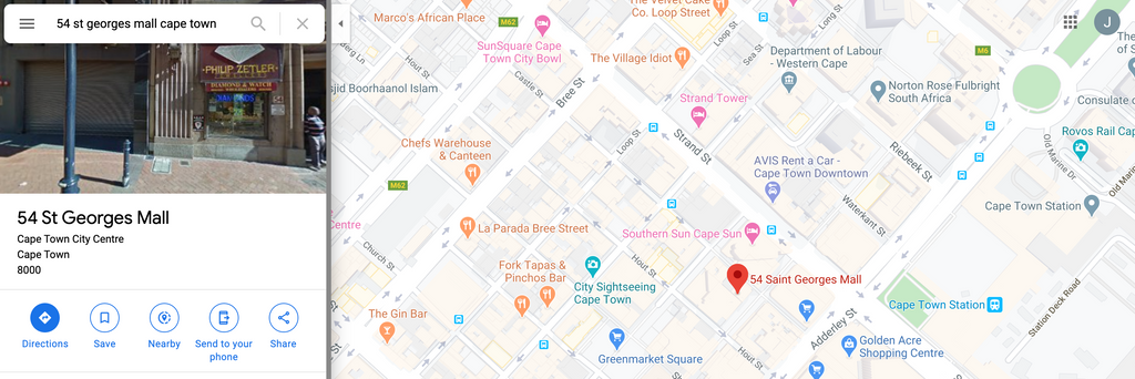 google maps image of philip zetler jewellers location