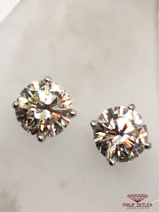 18ct Brilliant Cut Diamond Earrings