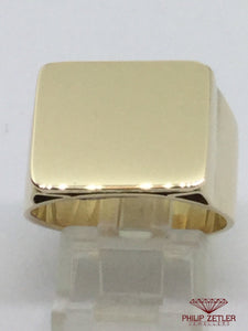 14ct Mens Plain Signet Ring