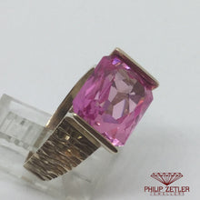 Load image into Gallery viewer, 9ct Pink Tourmaline Dress Ring