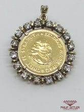 Load image into Gallery viewer, 1 Rand Kruger Coin Diamond Pendant
