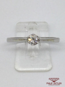 9ct White Gold Solitare Engadement Ring