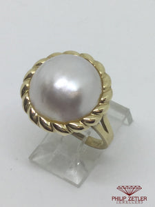 9ct Mabe Pearl Ring