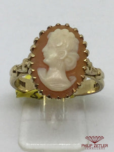 9ct Ladies Cameo Ring