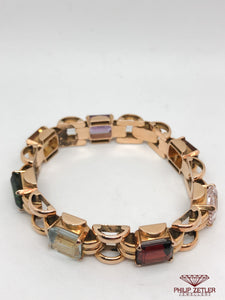 18ct Semi Precious Multi Colour Gem Bracelet