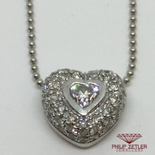 Load image into Gallery viewer, 18ct White Gold Diamond Heart Shaped Pendant