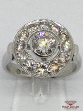 Load image into Gallery viewer, 18ct White Gold  Diamond Cluster Halo Ring