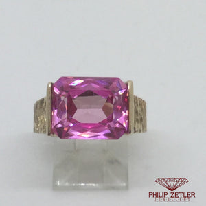 9ct Pink Tourmaline Dress Ring
