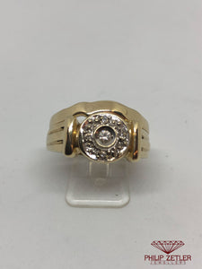 9ct Gold Ladies 5 Diamond Wedding Ring Set