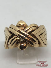 Load image into Gallery viewer, 18 ct Gents Turkish Puzzle Ring