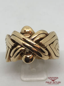 18 ct Gents Turkish Puzzle Ring