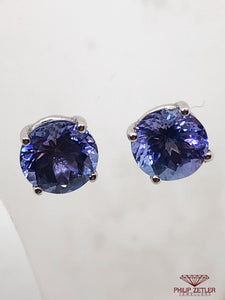 18 ct Brilliant Cut Tanzanite Earrings
