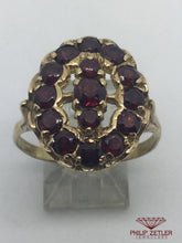 Load image into Gallery viewer, 9ct Gold  Garnet Dress Ring