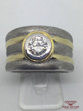 Load image into Gallery viewer, 18ct Ladies Yellow & White Gold Diamond Ring