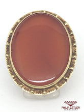 Load image into Gallery viewer, 18ct Ladies Antique Cornelian Dress Ring