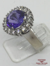 Load image into Gallery viewer, 18ct White Gold Tanzanite & Diamond Ring