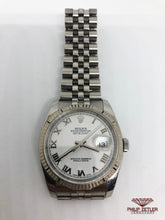 Laden Sie das Bild in den Galerie-Viewer, Rolex Datejust 18kt White Gold bezel & steel strap