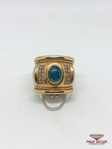 Opal & Yellow Gold Ring