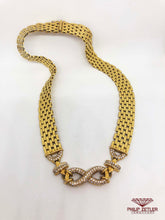 Afbeelding in Gallery-weergave laden, 18ct Gold & Diamond Infinity Necklace