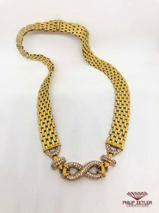 18ct Gold & Diamond Infinity Necklace