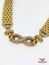 Laden Sie das Bild in den Galerie-Viewer, 18ct Gold & Diamond Infinity Necklace