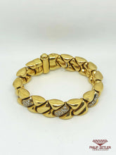 Load image into Gallery viewer, 18ct Gold & Diamond Bracelet