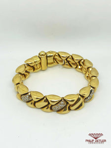 18ct Gold & Diamond Bracelet