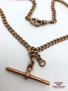9ct Rose Gold Fob Necklace and Pendant