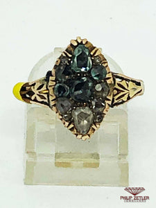 I8 ct Multicolor Anitique  Diamond Ring