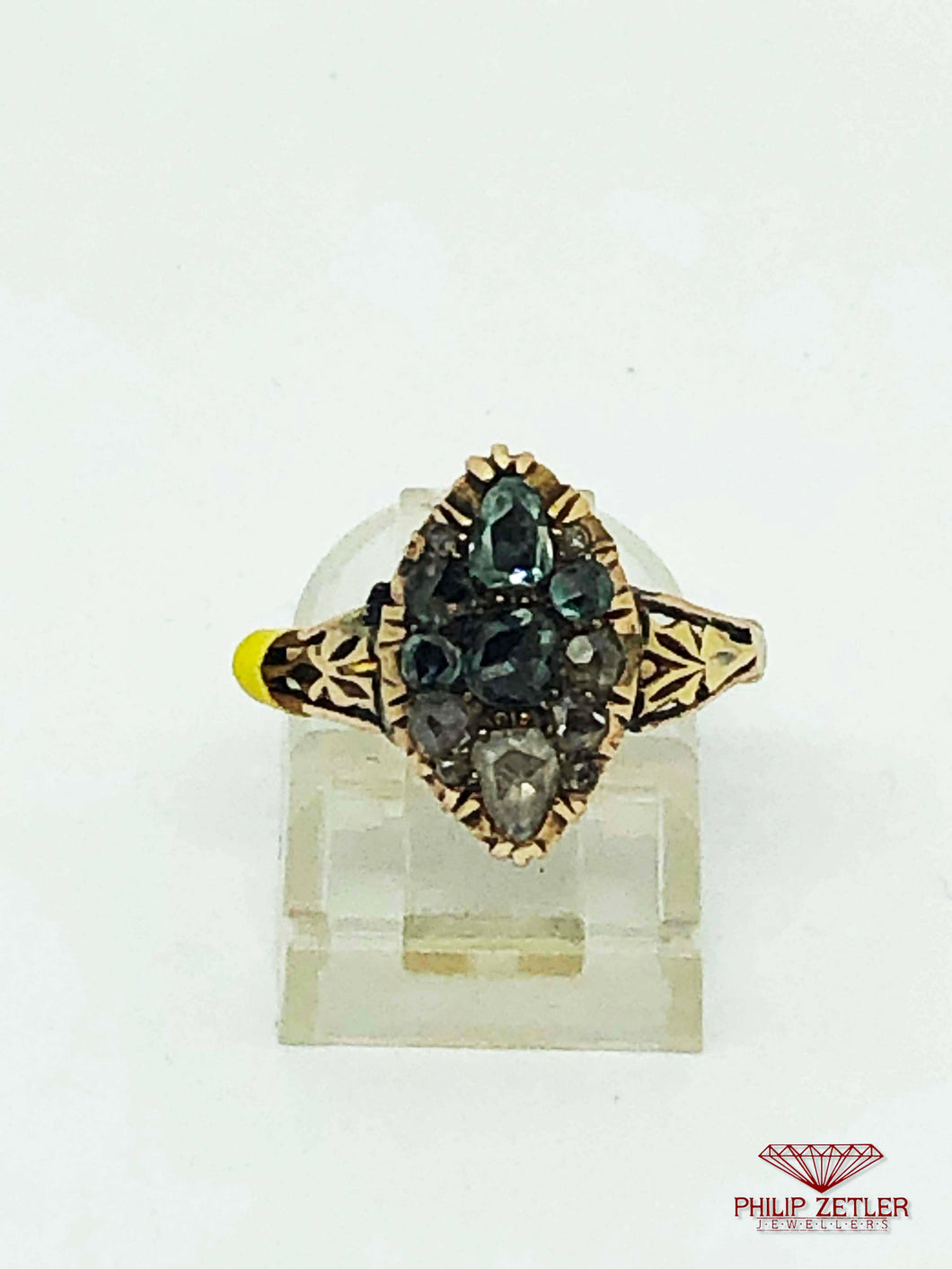 Colour Gradient Diamond and Yellow Gold Ring