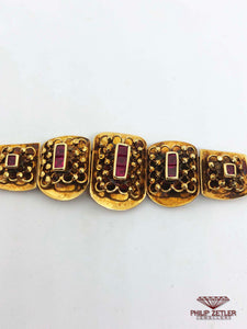18ct Ruby &  Yellow Gold Bracelet