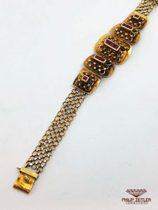 Ruby and Yellow Gold Bracelet