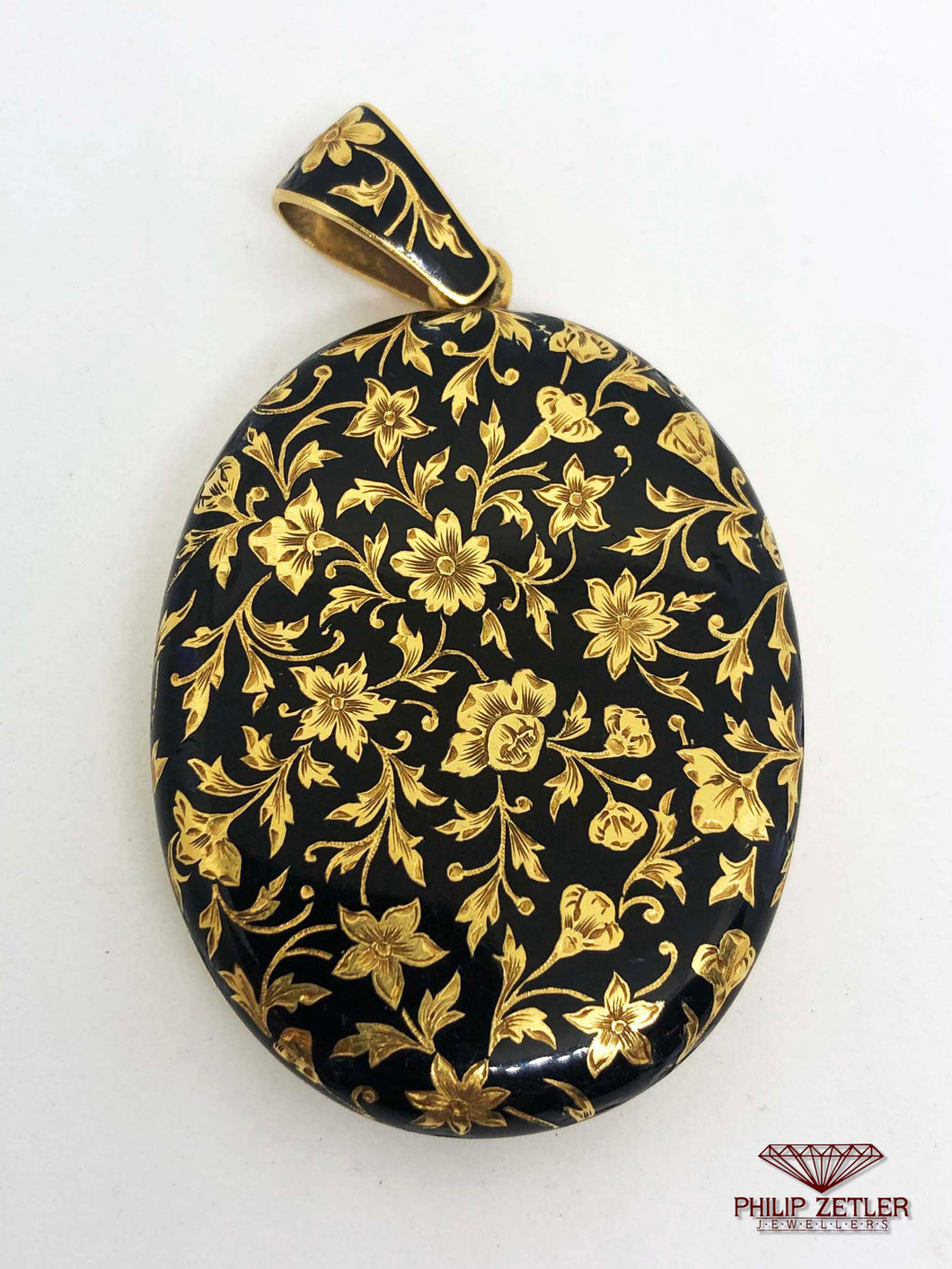 21ct Gold and Enamel Locket Pendant