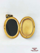 Load image into Gallery viewer, 21ct Gold and Enamel Locket Pendant