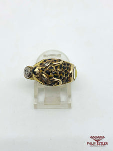 Diamond and Gold Tiger Ring