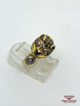 Load image into Gallery viewer, Diamond and Gold Tiger Ring