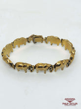 Load image into Gallery viewer, 9ct Sapphire & Gold Elephant Bracelet