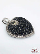 Load image into Gallery viewer, Blue Sapphire and Silver Heart Pendant