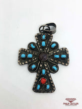 Load image into Gallery viewer, Silver Ornamental Cross Pendant
