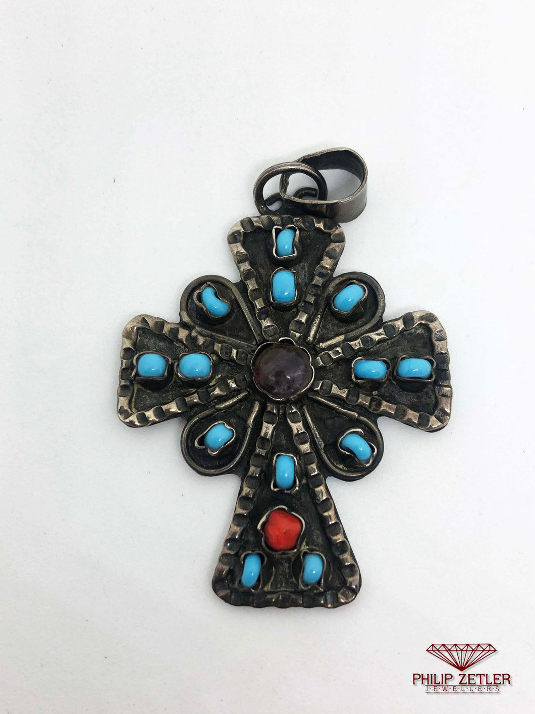 Silver Ornamental Cross Pendant