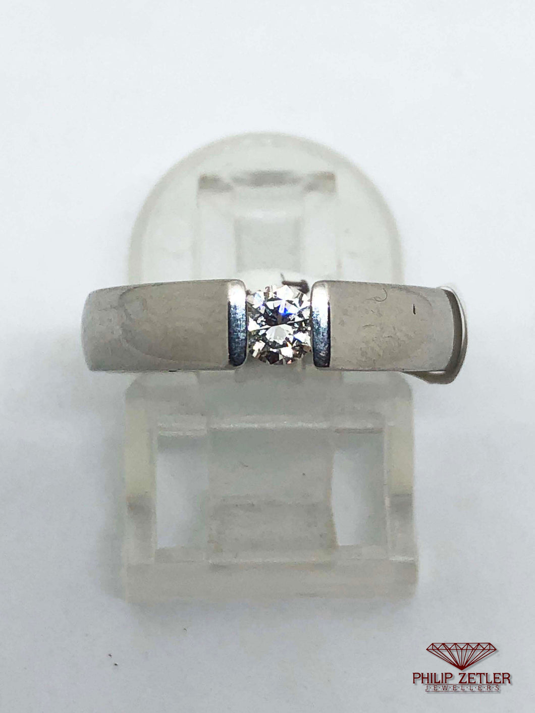 Platinum and Diamond Book-end Ring
