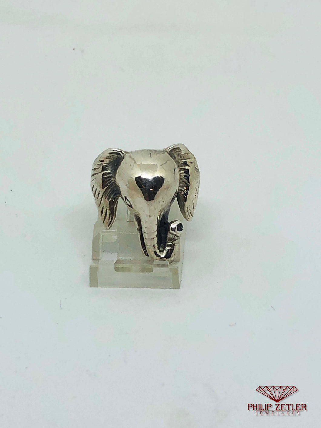 Silver Elephant Ring