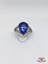 Load image into Gallery viewer, 18ct White Gold Pear Shaped Tanzanite & Diamond  Ring