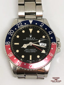 "Rolex GMT Master I ""Pepsi"" (1985) Reference 16750"