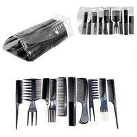 10Pcs Hairdressing Comb Set