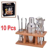 10Pcs Cocktail Maker Shaker Bar Set
