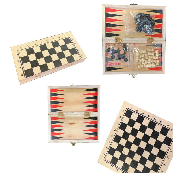 10 x 10 Wooden Mini Chess Travel Board Game