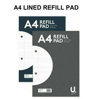 A4 Lined Ruled Refill Pad 160 Pages