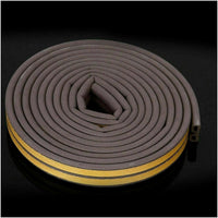 Brown Door Rubber Seal Strip 6m